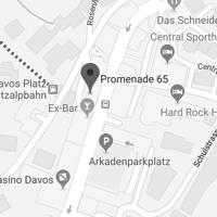Das Festivalbüro befindet sich in der Promenade 65 in Davos Platz.